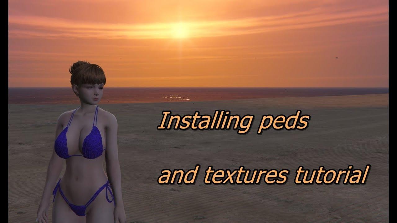 GTA V MODS Installing peds and textures tutorial