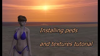 Video GTA V MODS Installing peds and textures tutorial download MP3, 3GP, MP4, WEBM, AVI, FLV Oktober 2018