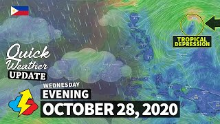 Weather update today PM | WEDNESDAY – OCTOBER 28, 2020 | Weather Forecast for today | Weather Today