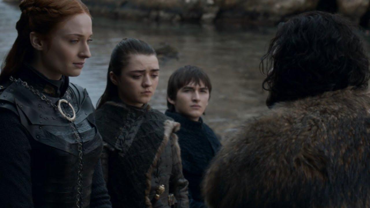 Download Game of Thrones 8×6 Jon Leaves for Castle Black/Arya,Sansa,Bran Bids Farewell/Final Ending Scene