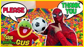 Learning Manners with Pretend Play Spiderman and Gus