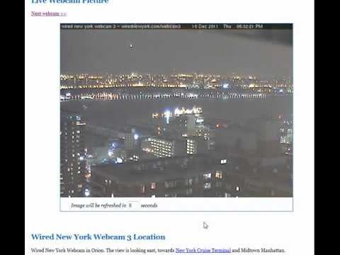 UFOs NYC webcam 12/15/2011