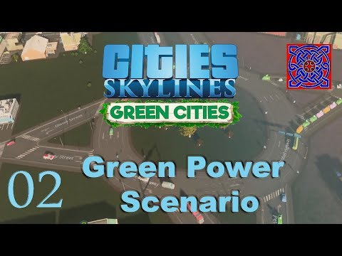Cities Skylines Green Cities :: Green Power Scenario : # 02 Solar Power