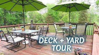 DECK + BACKYARD TOUR 🌿 Outdoor DIY + Decor Challenge
