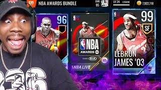 NEW 99 OVR ROOKIE LEBRON JAMES BEST CARD IN GAME! NBA Live Mobile 18 Gameplay Pack Opening Ep. 58