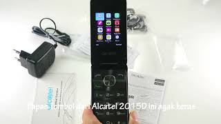 Alcatel 2051D Flip Feature Phone Nostalgia dengan PAPAN TOMBOL SEBESAR GAJAH !!! :)