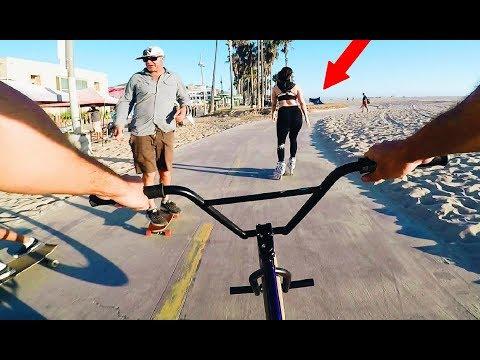 RIDING BMX ALL OVER VENICE BEACH (BMX IN THE HOOD)
