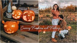 Vlogtober Day 29 // Pumpkin Carving & Packing