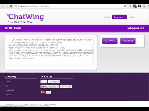 Get Live Chatbox on Wall.fm Social Network Sites