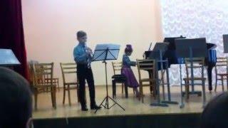 Менуэт - И.Бах - фа мажор Блок флейта и фортепиано