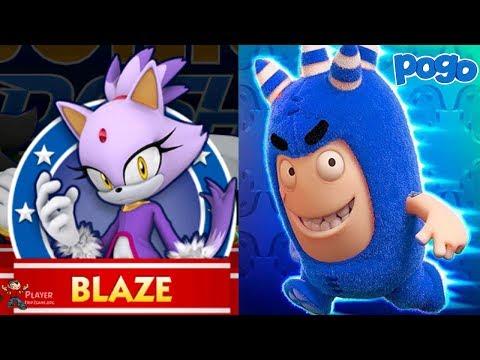 Oddbods Turbo Run - POGO Vs Sonic Dash - BLAZE - Gameplay Walkthrough