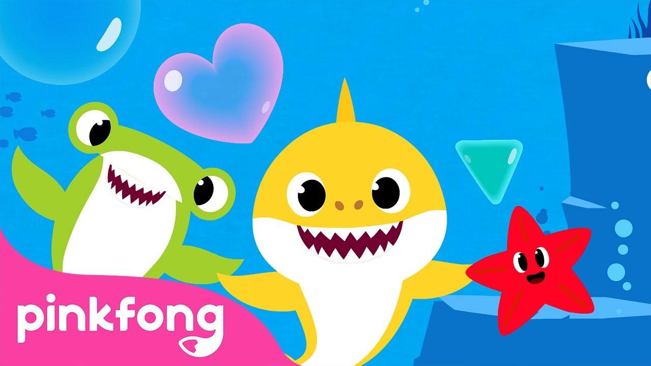 Formas no Mar | Cante junto com o Bebê Tubarão | Pinkfong Canções para Crianças