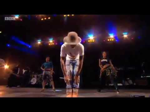 Pharrell Williams' set from the Main Stage at T in the Park 2014