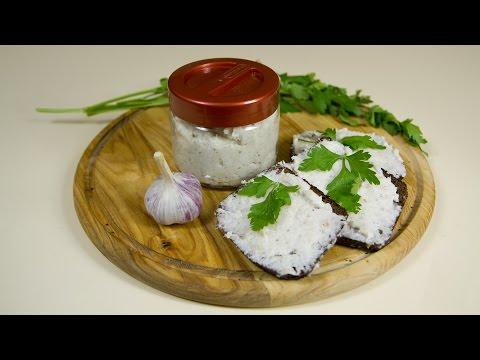Бутербродное сало с чесноком рецепт приготовления