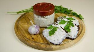Готовим солёное сало с чесноком. Оочень вкусно! :)
