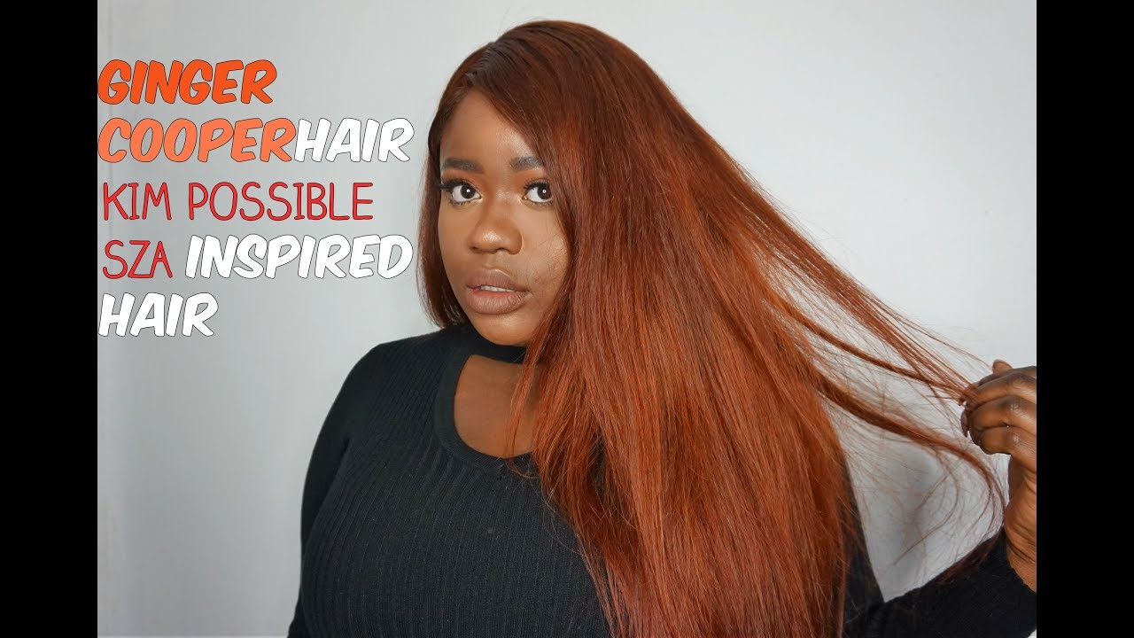 Diy Ginger Hair Kim Possible Sza Inspired Hair Color Adore