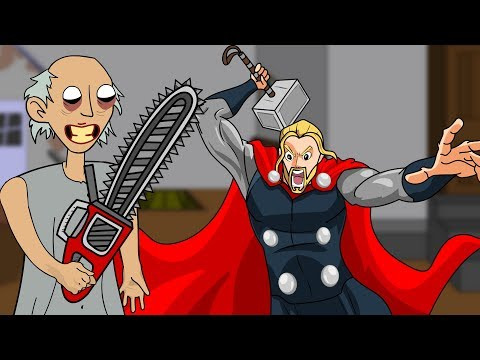 GRANNY THE HORROR GAME ANIMATION #27 : THOR Vs Granny