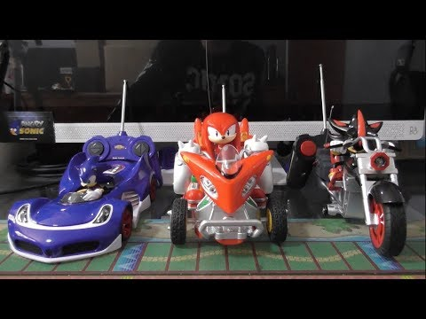 Sonic, Knuckles And Shadow Remote Control Cars