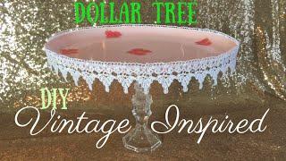 Dollar Tree DIY - Vintage Cake Stand   Cupcake Stand