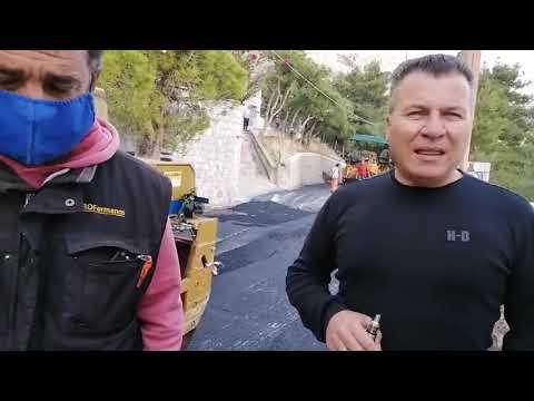 Ασφαλτοστρώθηκε ο δρόμος από ΙΚΑ προς Αγία Βαρβάρα στην Κάλυμνο