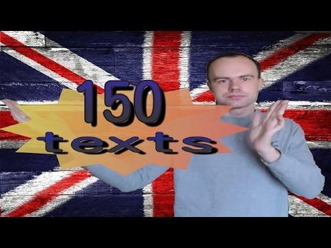 150 АНГЛИЙСКИХ ТЕКСТОВ. Разговорный английский для начинающих. Учим английский язык. Уроки
