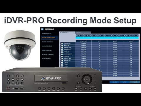 960H H.264 CCTV DVR Video Recording Setup