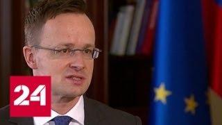 Глава МИД Венгрии - о политических и экономических связях с Россией - Россия 24