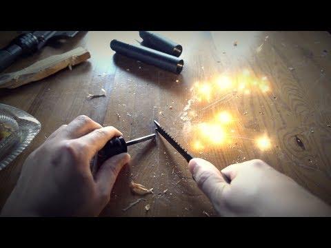 Experiment - Ist es leicht mit einem Feuerstein Feuer zu machen?