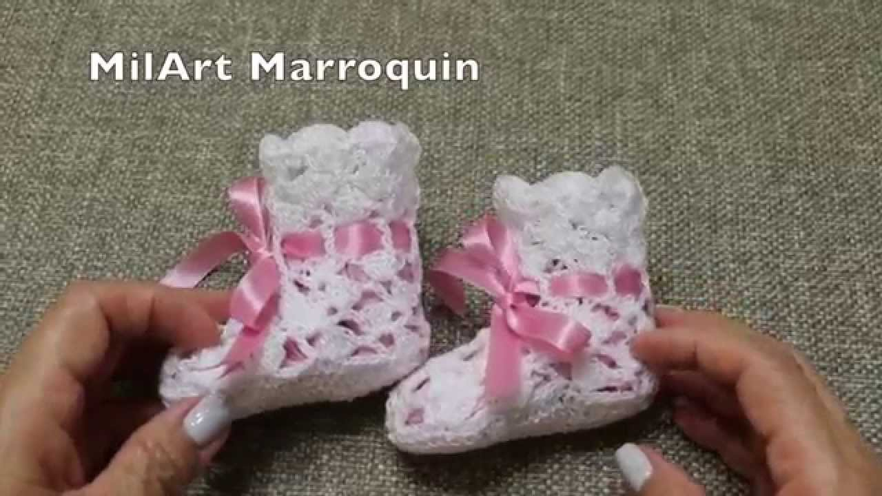 Zapatitos Facil Crochet - YouTube