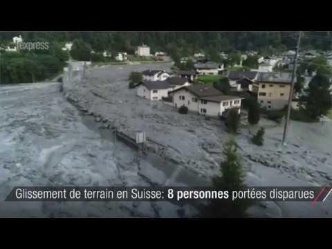 Huit personnes portées disparues après un glissement de terrain en Suisse