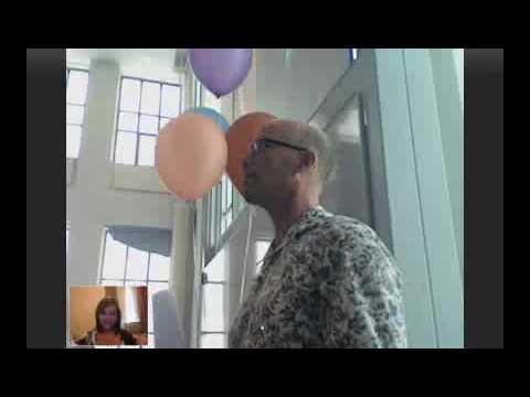 Diploma-uitreiking amanda via skype