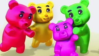 GUMMY BEAR FAMILY SONG 3D Nursery Rhymes For Children By All Babies Channel Kids Songs