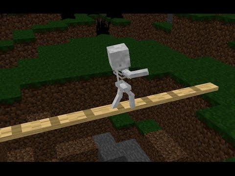 Monster School: Walking on a log - Minecraft Animation