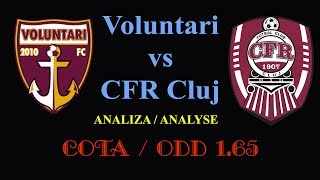 BET ODD 1.65 | VOLUNTARI - CFR CLUJ | ANALYSE | 01.12.2017
