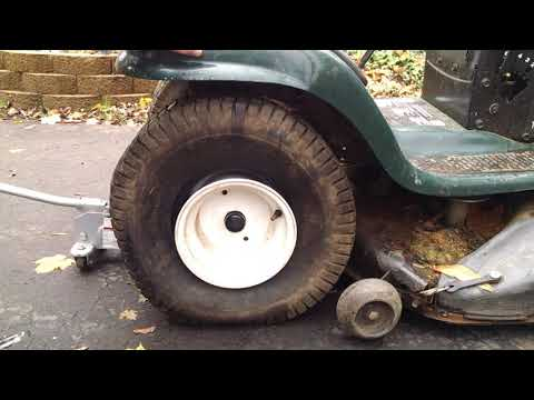 Easiest Way to Remove Rear Tire on Craftsman LT1000 Lawn Tractor Mower