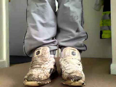 74fdf1cdfba Reebok classic well worn trainers - YouTube