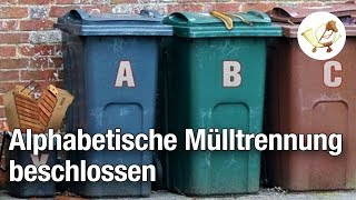 Bundesregierung beschließt alphabetische Mülltrennung