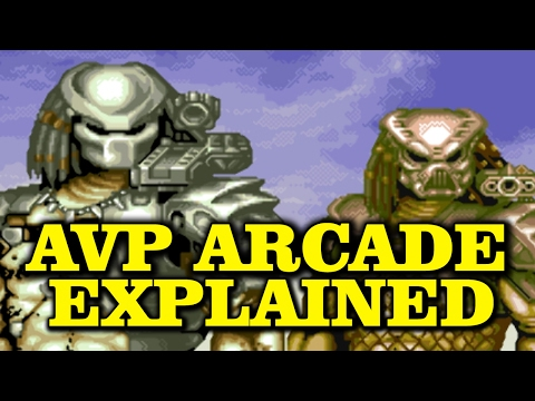 AVP ARCADE GAME STORY EXPLAINED ALIEN VS PREDATOR CAPCOM