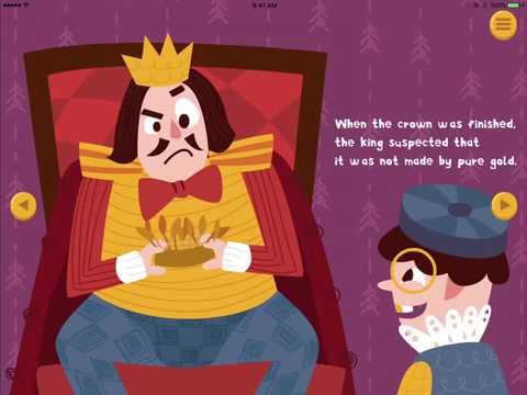 Archimedes and the Golden Crown, an interactive book by Aimee