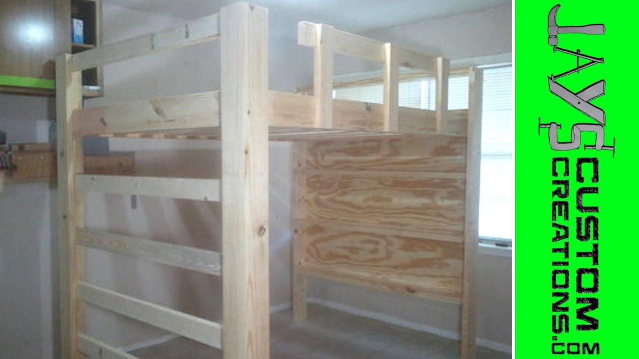 Full Size Loft Bed Video 3 060 Youtube