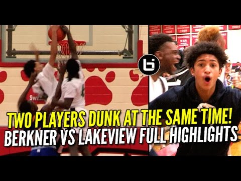 Teammates Dunk At The Same Time Who Gets The Points? Berkner vs Lakeview Centennial Full Highlights!