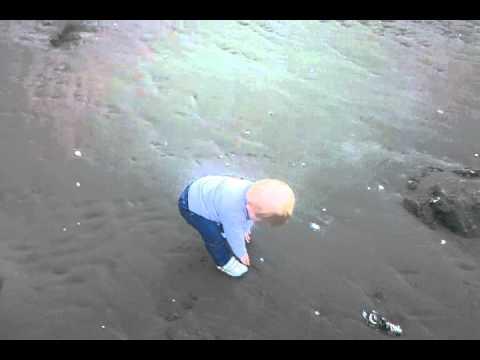 Waiake Beach - Annabel's first taste of sand