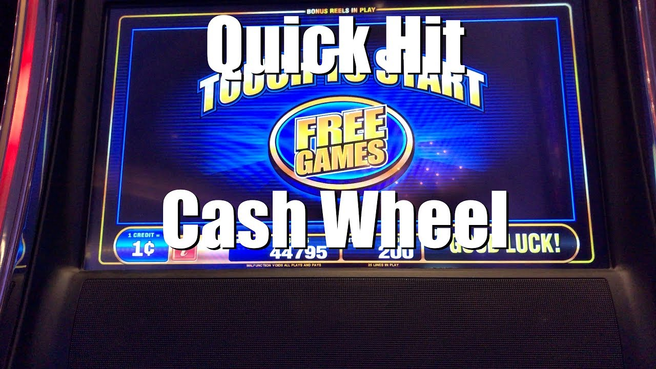 Quick Hit Cash Wheel Slot