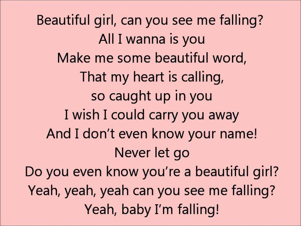 Glee - Beautiful Girl - Lyrics - YouTube