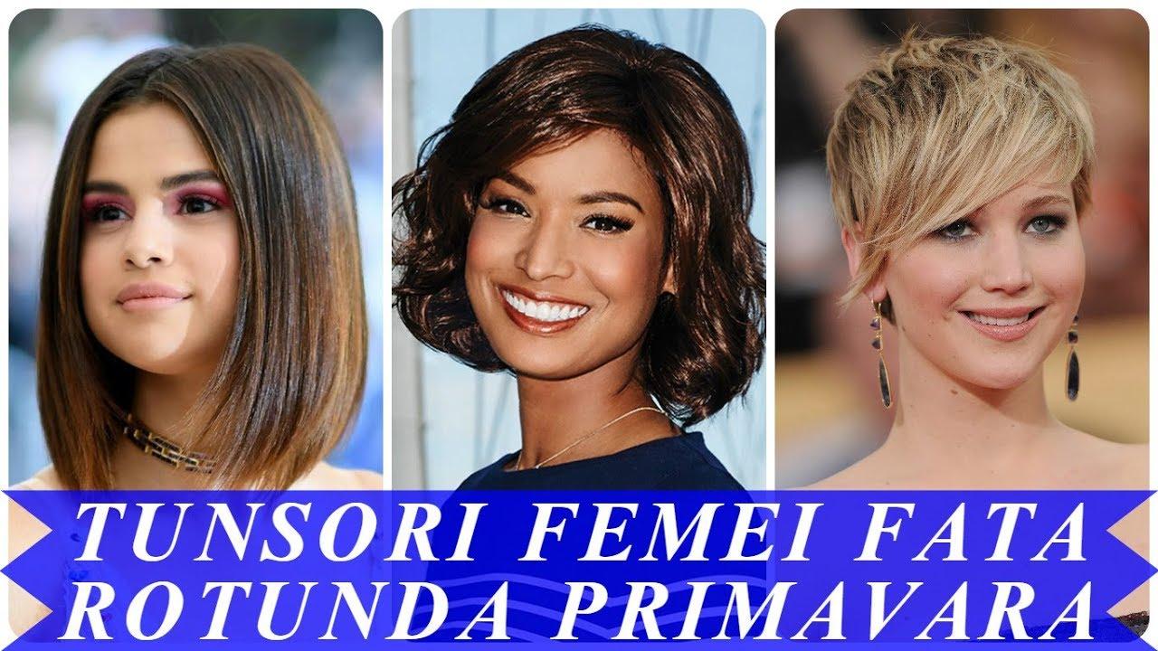 Modele De Tunsori Femei Fata Rotunda Primavara 2018 Youtube