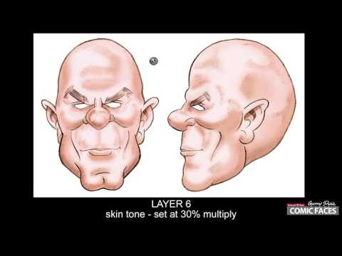 Step 1 - Garry Pye Tutorial Article - Pencil sketch to colour face
