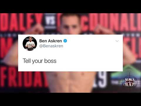 Rory MacDonald & Ben Askren get heated in a back & forth exhange on a potential fight