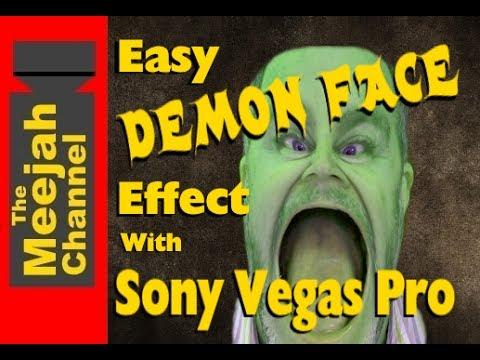 Easy Demon Face effect tutorial in Sony Vegas pro