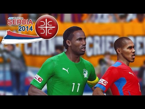 Czech Republic Vs. Ivory Coast | Jmc World Cup Serbia 2014 | Pro Evolution Soccer 2014 (PES 2014)