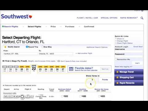 Southwest Reservations